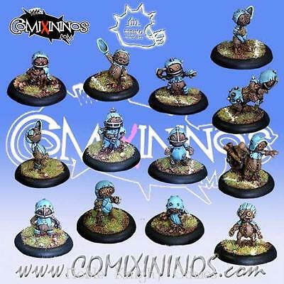 Comixininos Fantasy Football Halflings 28mm Puppet Team of 13 Players Pack MINT