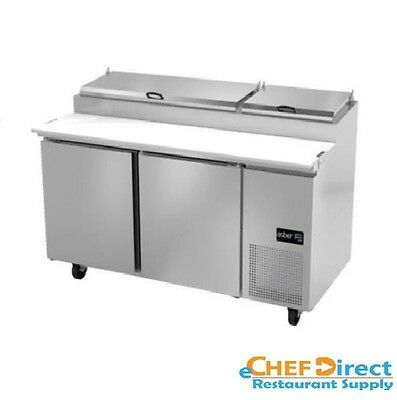 "Asber APTP-67 67"" Two Door 9 Pan Pizza Prep Table"