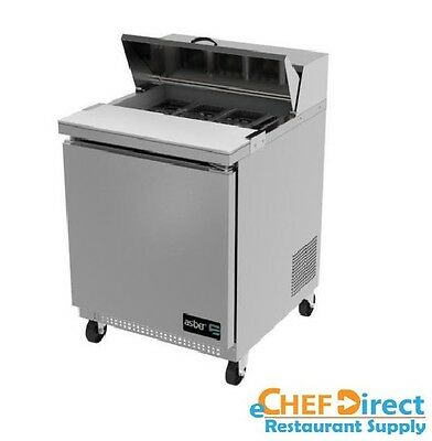 "Asber APTS-27-8 27"" One Door 8 Pan Sandwich / Salad Prep Table"
