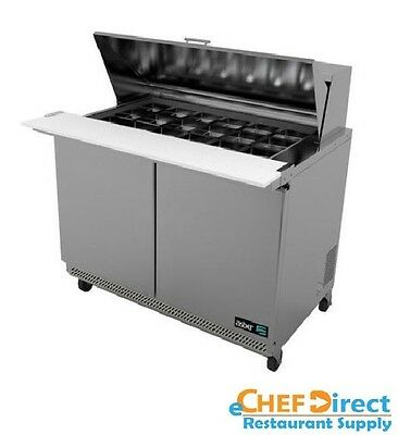"Asber APTM-48-18 48"" Double Door Mega Top Sandwich/Salad Prep Table"