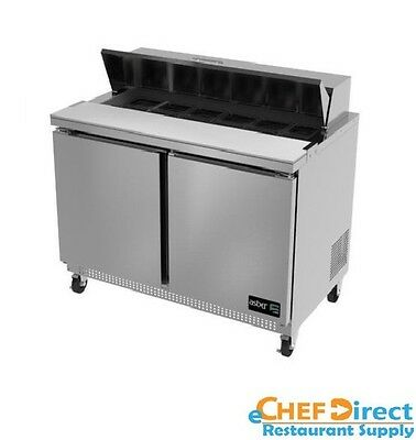 "Asber APTS-60-16 60"" Two Door 16 Pan Sandwich / Salad Prep Table"