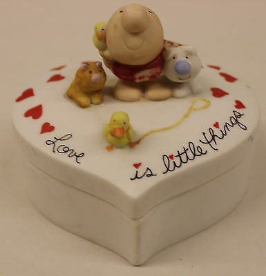 Ziggy Love Talk Heart Trinket Box LOVE IS LITTLE THINGS