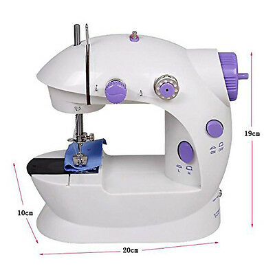 Portable Electric Desktop Sewing Machine Hand Held Household Sartorially Sergers