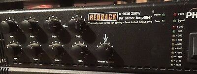 Redback A1836 250W PHASE 4 6 Channel AUDIO MIXER Amplifier
