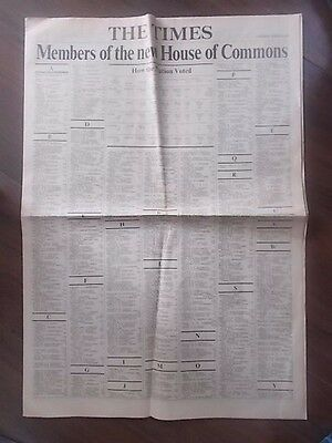 VINTAGE NEWSPAPER THE TIMES MARCH 2nd 1974 ELECTION RESULTS SUPPLEMENT