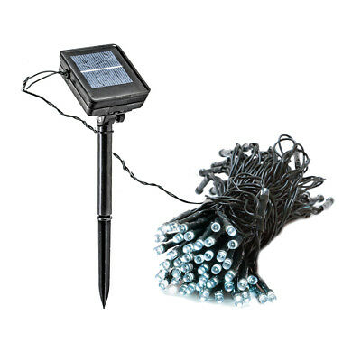 39 Foot Solar Outdoor Christmas Holiday String Lights with 100 LED