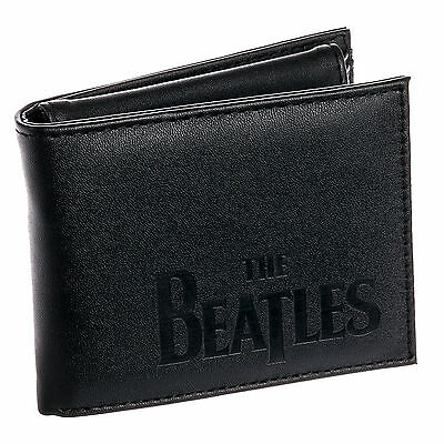 Beatles Mens Black The Beatles Abbey Road Bifold Wallet w/ Removable ID Case