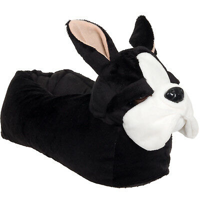 Silver Lilly French Bulldog Plush Animal Costume Slippers