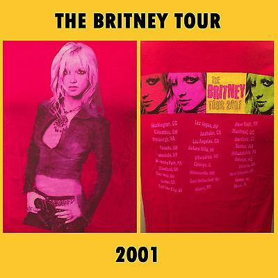 Britney Spears Official 2001 The Britney Tour Concert T Shirt Small (BRAND NEW)