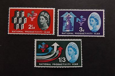 GB MNH STAMP SET 1962 Productivity Year (ordinary) SG 631-633 10% off any 5+