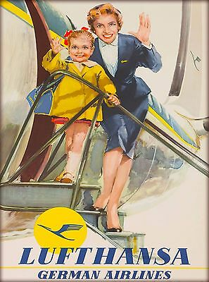 Lufthansa Germany German Airlines Vintage Airway Travel Advertisement Poster