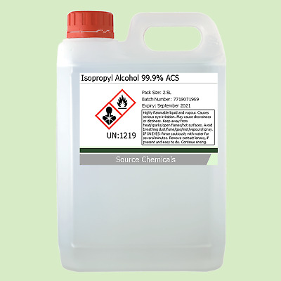 Isopropyl Alcohol (Isopropanol) 99.9% 2.5 Litre (2.5L) Including Delivery