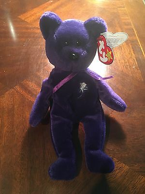 Rare Mint 1st Edition Princess Diana 1997 Retired Beanie Baby