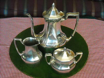 (3 Pc) Coffee Set with Coffee Pot in Patrician Silverplate Hollowware by Oneida