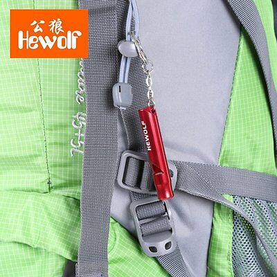 Outdoor Camping Expedition Training Whistle Aluminium Alloy Survival Whistle  SW