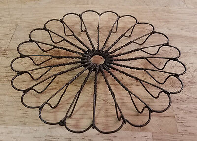 Antique 6 Inch Twisted Wire Footed Trivet