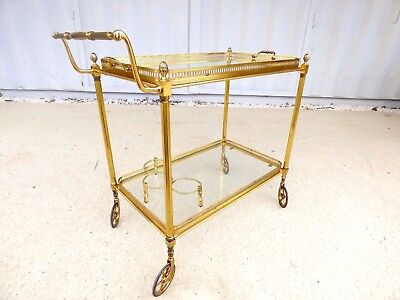 table desserte roulante dorée trolley bar cart