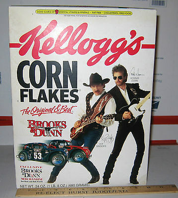 1997 Brooks and Dunn Kellogg's Corn Flakes 24oz Box Full Unopened