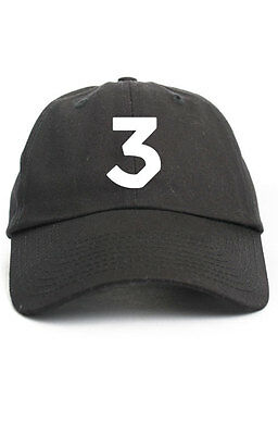 Chance The Rapper EMBROIDERED Unstructured Black Dad Hat Cap Coloring Book 6e39c8a54697