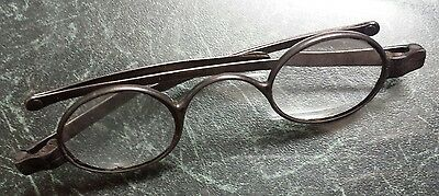 Georgian silver rimed eyeglasses London 1783 or 1823 makers mark HT