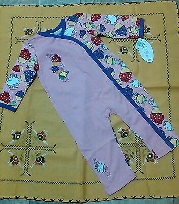 Disney Minnie Mouse Cupcake Pink Purple Romper Jump Suit One Piece 24m 2T NWT