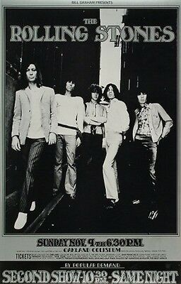 Rolling Stones 1969 Oakland Concert Poster 20 x 32 ~ NM- 3rd Print $39.95