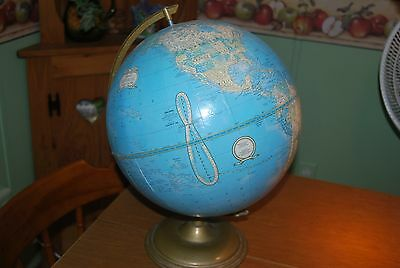 Vintage Cram's IMPERIAL WORLD GLOBE RUSSIA Union of Soviet USSR E/W Germany