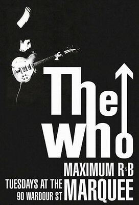 The Who Maximum R&B Marquee Club Concert Poster 24 x 36 ~ NM- $8.95 Townshend