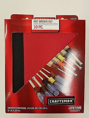 Craftsman Nut Driver Set 10 piece 50209 NEW! w Zipper Case 5 inch 5 metric