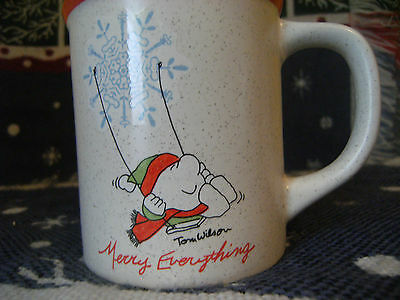 Ziggy Coffee Mug Tom Wilson Merry Everything 1977 Swing Christmas Snowflake