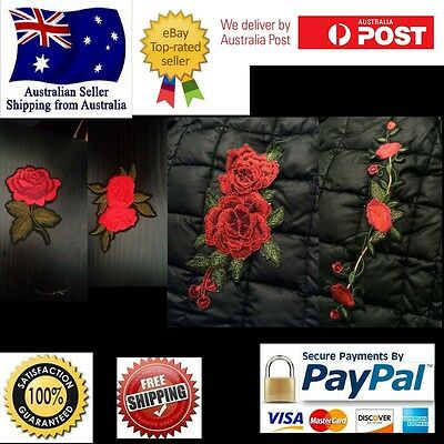Embroidery Rose Floral Flower Trendy Patch Applique Iron on Patches
