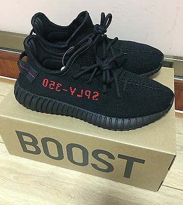 "Adidas Yeezy Boost 350 V2 ""Black Red"" - CP9652 Men's Size 9"