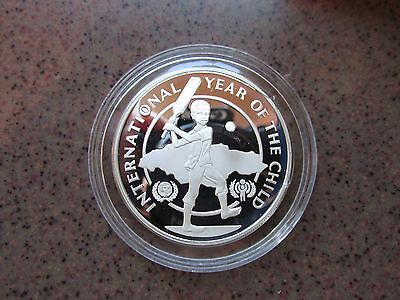 """International Year of the Child"" Jamaica Silver Proof 10 Dollar Coin"
