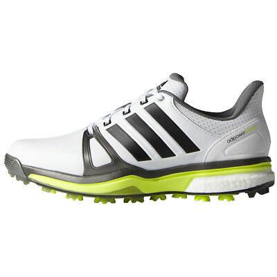 Adidas Adipower Boost 2 Mens Spiked Golf Shoes - White / Silver / Yellow