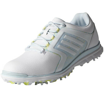 Adidas Adistar Tour Womens Spiked Golf Shoes - White / Blue / Lime