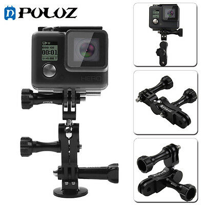 PULUZ 360° Matel Ball Joint Mount W 2 Long Screws For GoPro 5 4 Session 3 2 1