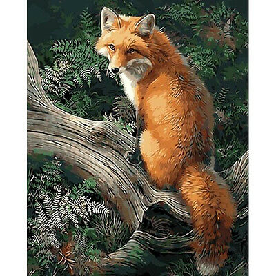 Paint By Number Kit Fox Forest DIY Painting Wall Decor PZ7063