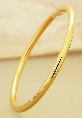 Gold Small Narrow Creola Golf Bangle Baby's / Infant Gold Plated 48mm - 1 7/8""