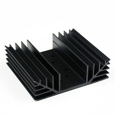 SS642 TO-3 holes x2 Aluminum Black Heatsink Heat Sink Audio Amplifier