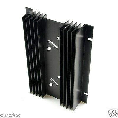 SS462 TO-3 holes x2 Aluminum Black Heatsink Heat Sink Audio Amplifier