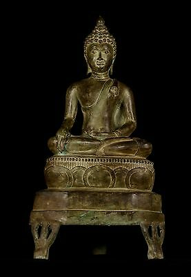 Large 19th Century Antique Chiang Saen Enlightenment Buddha Statue - 74cm/30""