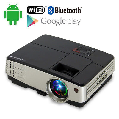 CAIWEI A5(A) LED LCD Projector for Home Cinema Android Wifi Online Movie 1080p