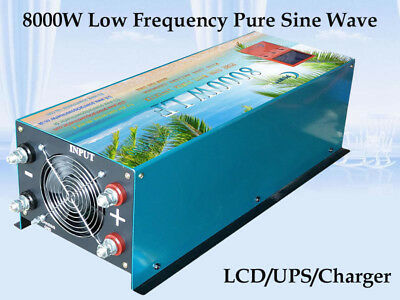 32000W Peak 8000W LF Pure Sine Wave 12VDC/110VAC Power Inverter LCD/UPS/Charger