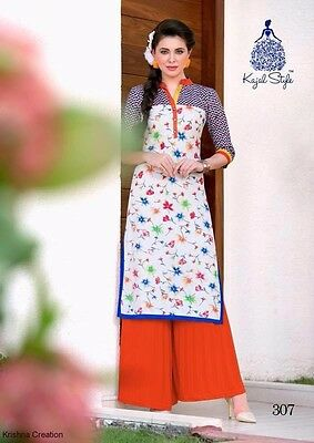Women Indian/bollywood Cotton Kurti/kurta/tunic/top/blouse Long Ethnic Xl/42""