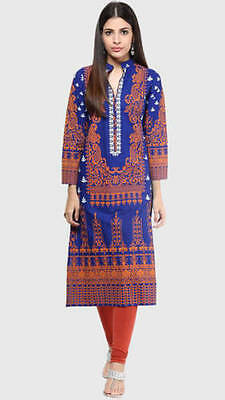 USA SELLER Indian Bollywood Kurta/Kurti/Tunic/Top/Blouse Shree WomenEthnic S/38""