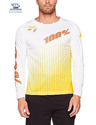100 R Core Supra Maillot Vtt Homme, Blanc, FR XL Taille Fabricant