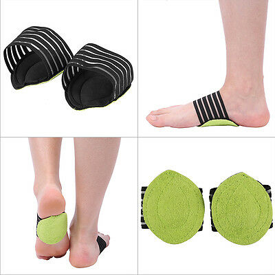 Foot Arch Support Shock Absorb Cushion Heel Soft Plantar Fasciiti Pain Relief ZY