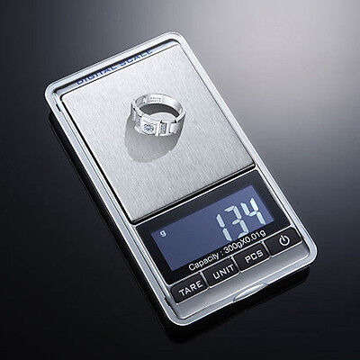 300g x 0.01g Mini Digital Jewelry Pocket Gram Scale High Precsion Scale Eager