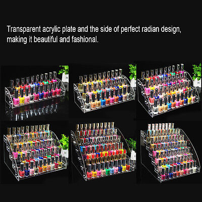 Beauty Makeup Nail Polish Clear Acrylic Storage Organizer Rack Display Holder