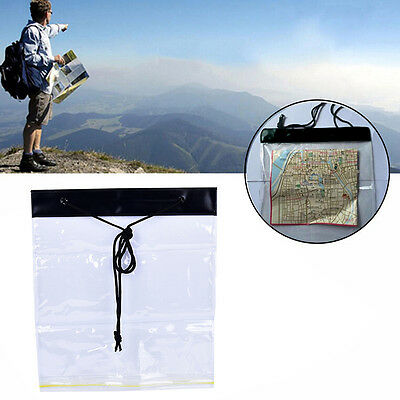 PVC Transparent Waterproof Map Document Storage Case Holder Pouch Camping